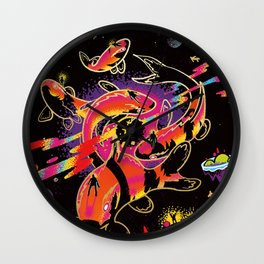 Interdimensional Nishikigoi Wall Clock