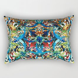 Bold Pattern Art - Color Fusion Design 8 By Sharon Cummings Rectangular Pillow