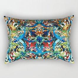 Bold Pattern Art - Color Fusion Design 8 By Sharon Cummings Rectangular Pillow