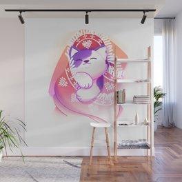 Cat Nap Wall Mural