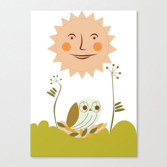 Owl sun Canvas Print