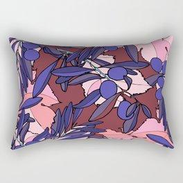Pink Olives Rectangular Pillow
