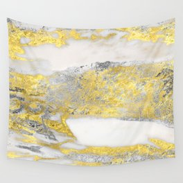 Silver and Gold Marble Design Wall Tapestry