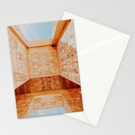 the theban necropolis / egypt Stationery Cards
