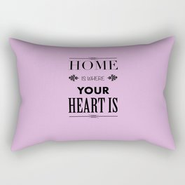 Home is where - pink Rectangular Pillow