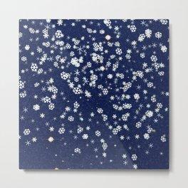 Snowflakes in space Metal Print