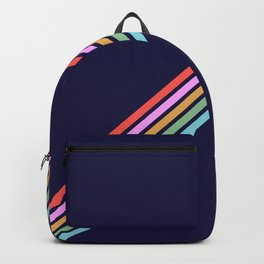 Bathala - Minimal Classic 80s Style Graphic Design Stripes Backpack