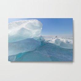 Baikal Ghost. Lake Baikal Ice Adventure Metal Print