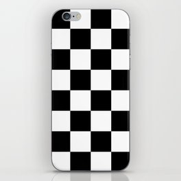 Contemporary Black & White Gingham Pattern iPhone Skin