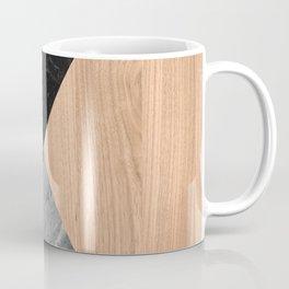 Marble and Wood Abstract Coffee Mug
