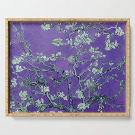 """Vincent van Gogh """"Almond Blossoms"""" (edited purple) Serving Tray"""
