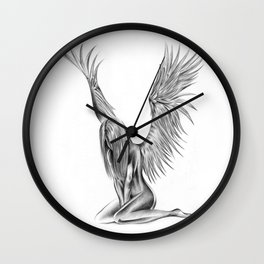 Lonely Angel Wall Clock