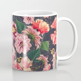 Vintage Flowers and Bees Coffee Mug