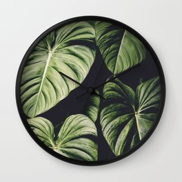 Monstera - Tropical Forest - nature photography Wall Clock