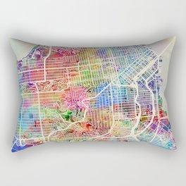 San Francisco City Street Map Rectangular Pillow