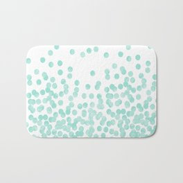 Scattered Glitter Dots in mint, green, pistachio, cool girly cute colors for trendy cell phone case Bath Mat