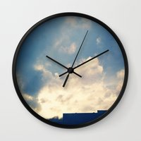 skyline Wall Clocks featuring Skyline by EscapeCity