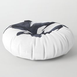 Orca male and female Floor Pillow