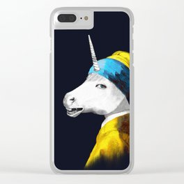 Cool Animal Art - Funny Unicorn Clear iPhone Case