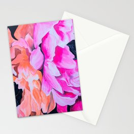 Neon peonies Stationery Cards