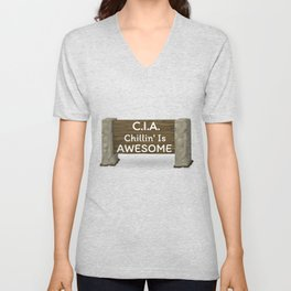 CIA Chillin' Is Awesome Unisex V-Neck