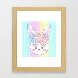 Fairy Kei Decora Bunny Framed Art Print
