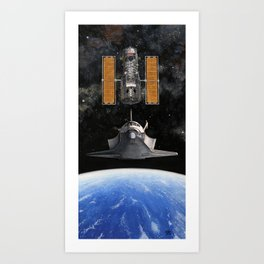 Hubble Rendezvous Art Print