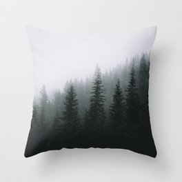 Forests + Fog Throw Pillow