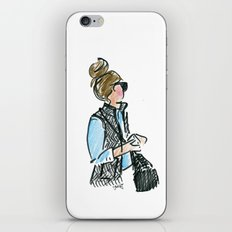 Top Knot. Tweed Vest. iPhone & iPod Skin