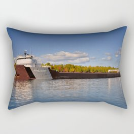 Roger Blough freighter in the Fall Rectangular Pillow