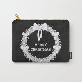 Bold Christmas Wreath Carry-All Pouch