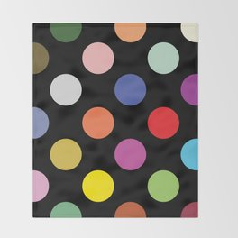 Multicolored Polka Dots Throw Blanket