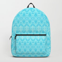 Turquoise Damask Pattern Backpack