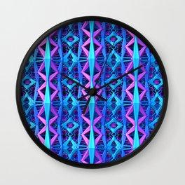 Blue/Purple Metallic Pattern Wall Clock