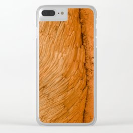 Bryce Canyon National Park Wood Texture Clear iPhone Case