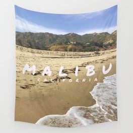 Malibu WITH TEXT Wall Tapestry