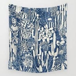 Indigo cacti Wall Tapestry