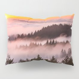 Bolinas Ridge Foggy Sunset Pillow Sham