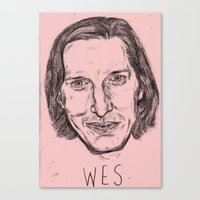 wes anderson Canvas Prints featuring WES ANDERSON by Beth Dunne