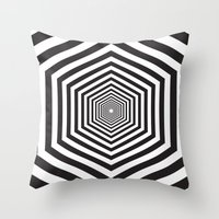 hexagon Throw Pillows featuring Hexagon by Vadeco