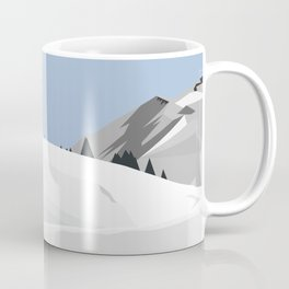 snowy mountains Coffee Mug