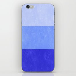 Blue Grunge Stripes iPhone Skin