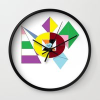 nfl Wall Clocks featuring NFL Abstract by Franky Fleece