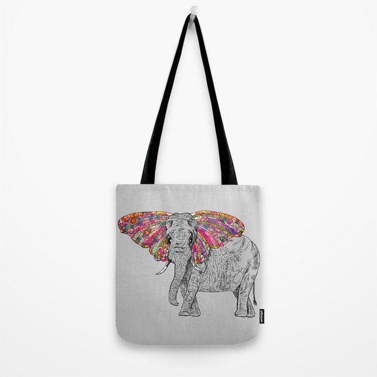 Bella The Happy Butterphant Tote Bag