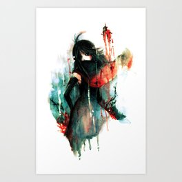 Color Bleeds Out Art Print