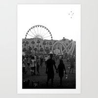 coachella Art Prints featuring Coachella Couple by Derek Delacroix