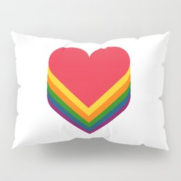 Heart rainbow Pillow Sham