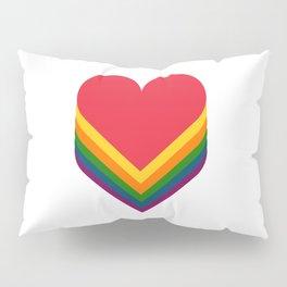 Heart rainbow Pillow Sham