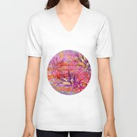 fruits V-neck T-shirts featuring Tropical Fruits by LebensART