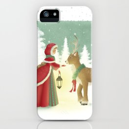 The Maiden and the Mysterious Reindeer iPhone Case